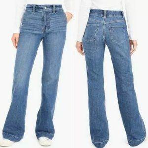 J.Crew High Rise Wide Leg Trouser Jeans Flair 26
